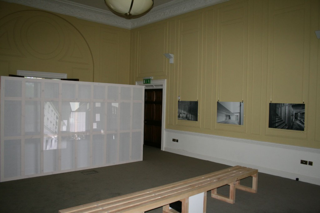 IAA Model Room with AAI Awards installation screen and bench, and photographs handing on new system