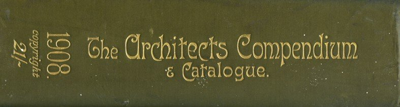 Spine, The Architects Companion, 1908