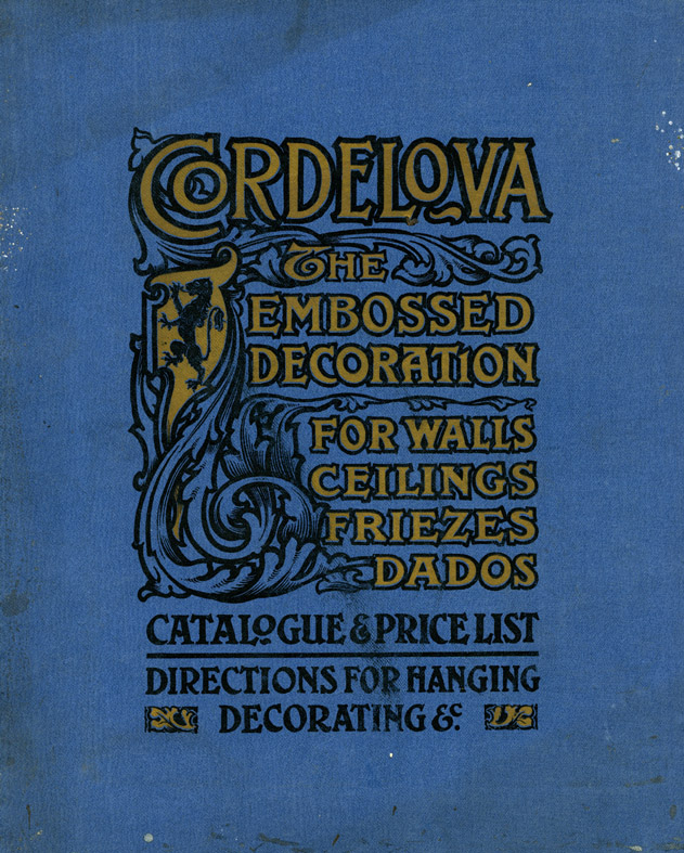 Cordelova catalogue, c. 1900