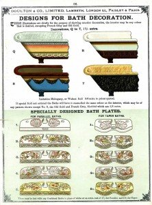 Designs for bath decorations, Doulton & Co Ltd catalogue, 1898