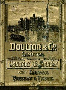 Cover, Doulton & Co. Ltd catalogue, 1898