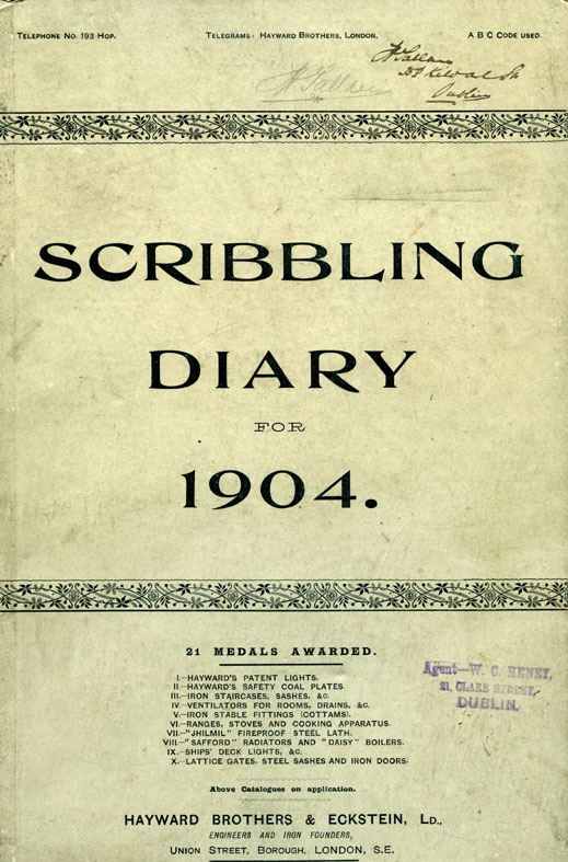 Finian Tallan's Scribbling Diary, 1904 (IAA 2015/60)